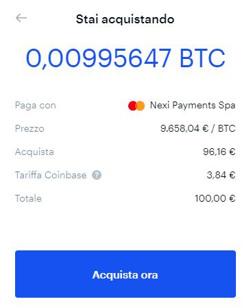 tariffe coinbase)